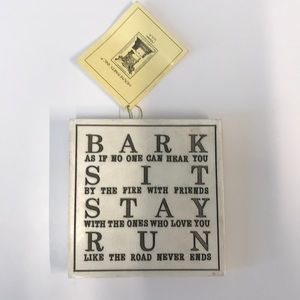 Dog lover decor - bark, sit, stay, run!